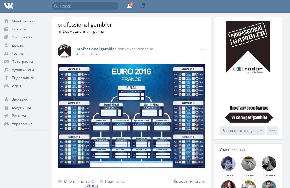 Продвижение Вконтакте инвестиций